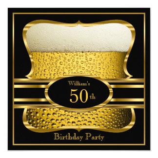 Invitación negra 2 de la fiesta de cumpleaños del invitación 13,3 cm x 13,3cm
