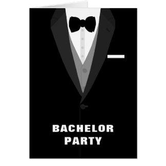 Invitación negra de la despedida de soltero del tarjeta de felicitación