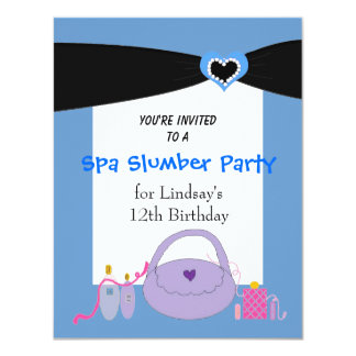 Invitación negra de la fiesta de cumpleaños del