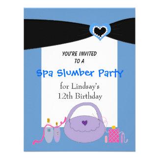 Invitación negra de la fiesta de cumpleaños del ba