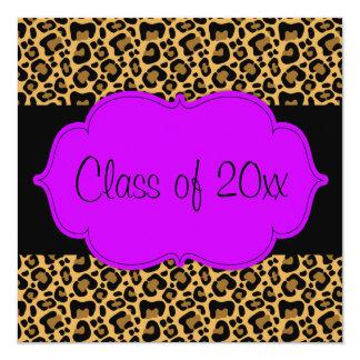 Invitación negra púrpura de la fiesta de invitación 13,3 cm x 13,3cm