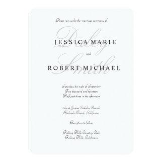Invitación negra y blanca del tipo elegante del invitación 12,7 x 17,8 cm