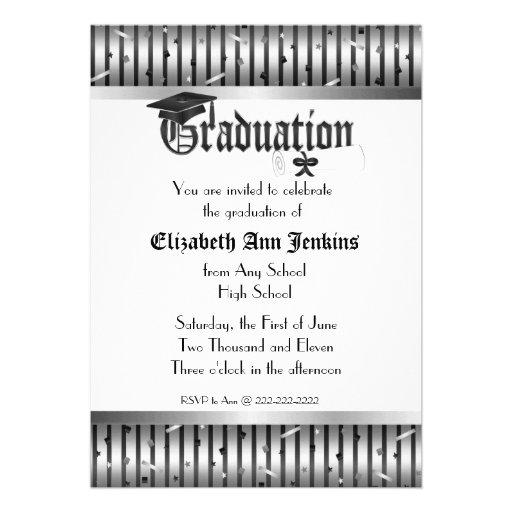Como hacer una invitación para graduación de kinder - Imagui
