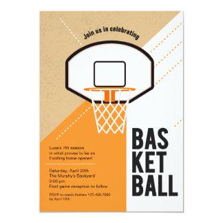 Invitación neta del baloncesto
