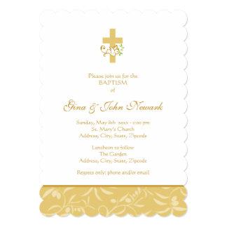 Invitación neutral del bautismo de la cruz y de la