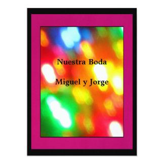 Invitación - Nuestra Boda - multicolores