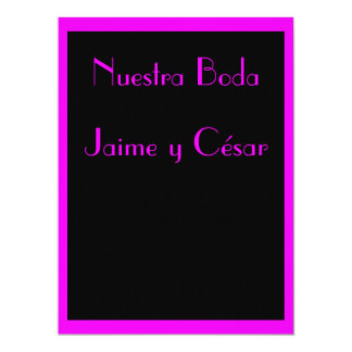 Invitación - Nuestra Boda - Negra y Rosa