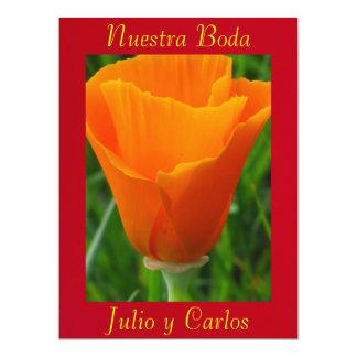 Invitación - Nuestra Boda - Roja y Naranja