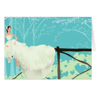 Invitación nupcial azul de la ducha tarjeta de felicitación