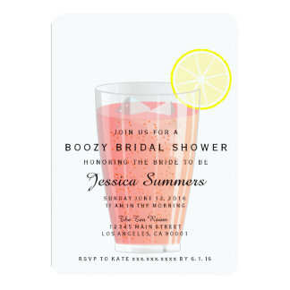 Invitación nupcial borracha de la ducha