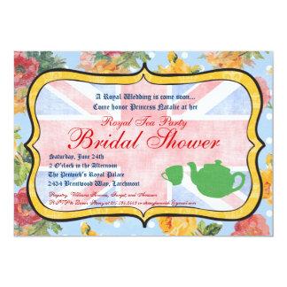 Invitación nupcial británica real de la ducha invitación 12,7 x 17,8 cm