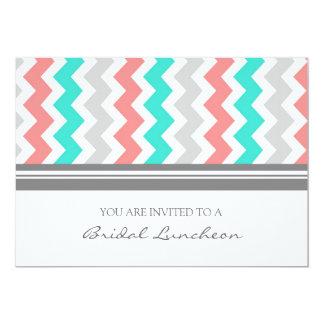 Invitación nupcial coralina del almuerzo de invitación 12,7 x 17,8 cm