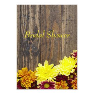 Invitación nupcial de la ducha--Boda del otoño