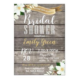 Invitación nupcial de la ducha de la flor de la