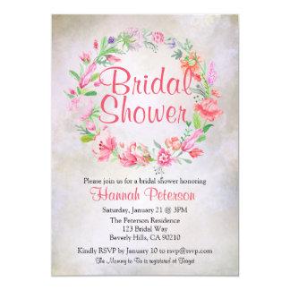 Invitación nupcial de la ducha de la guirnalda