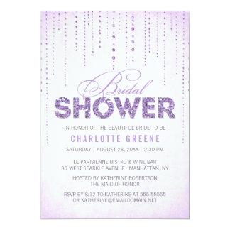 Invitación nupcial de la ducha de la mirada del invitación 12,7 x 17,8 cm