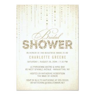 Invitación nupcial de la ducha de la mirada del