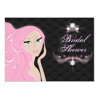 Invitación nupcial de la ducha de la novia de moda