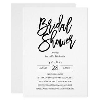 Invitación nupcial de la ducha de la novia moderna