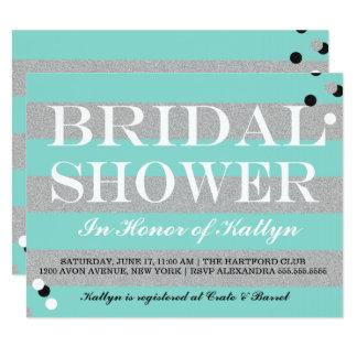 Invitación nupcial de la ducha de la NOVIA y del