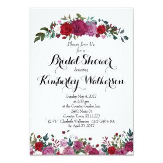 Invitación nupcial de la ducha de la rosaleda