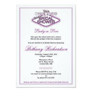 Invitación nupcial de la ducha de Las Vegas - Invitación 12,7 X 17,8 Cm