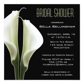 Tarjeta Invitación nupcial de la ducha de Lillies de la