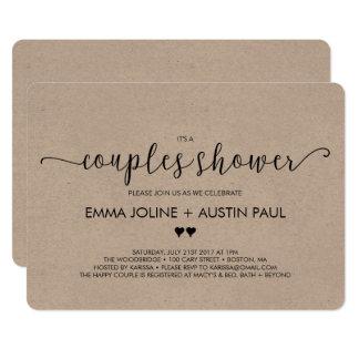 Invitación nupcial de la ducha de los pares -