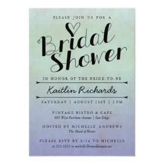 Invitación nupcial de la ducha de Ombre