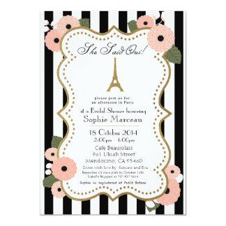 Invitación nupcial de la ducha de París