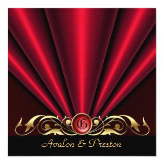 Invitación nupcial de la ducha del art déco rojo invitación 13,3 cm x 13,3cm