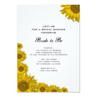 Invitación nupcial de la ducha del borde amarillo