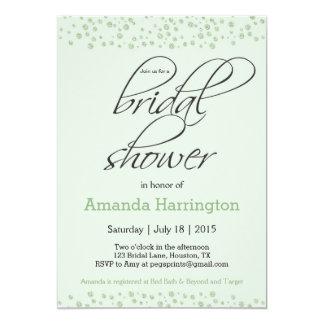 Invitación nupcial de la ducha del brillo de la
