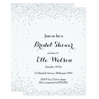 Invitación nupcial de la ducha del confeti