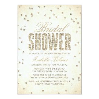 Invitación nupcial de la ducha del confeti de la invitación 12,7 x 17,8 cm