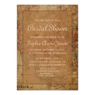 Invitación nupcial de la ducha del destino del