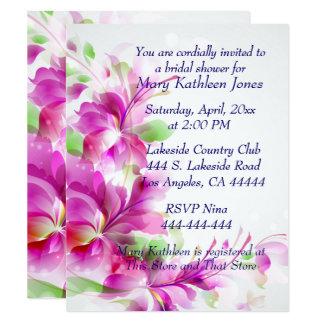 Invitación nupcial de la ducha del diseño floral