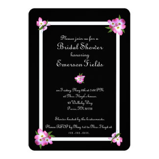 Invitación nupcial de la ducha del Dogwood rosado