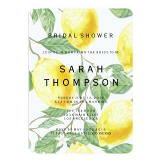 Invitación nupcial de la ducha del limón moderno
