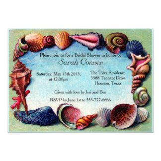 Invitación nupcial de la ducha del Seashell del