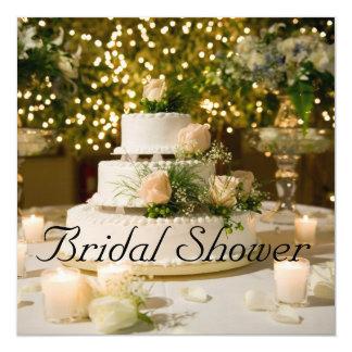 Invitación nupcial de la ducha--Pastel de bodas