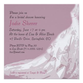 Invitación nupcial de la ducha: Vestido rosado