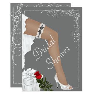 Invitación nupcial de plata elegante de la ducha