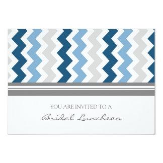 Invitación nupcial del almuerzo de Chevron del Invitación 12,7 X 17,8 Cm