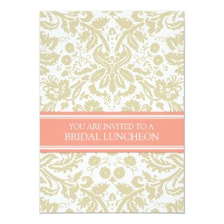 Invitación nupcial del almuerzo del damasco
