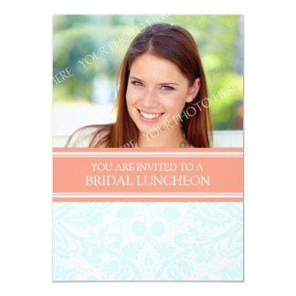 Invitación nupcial del almuerzo del damasco invitación 12,7 x 17,8 cm