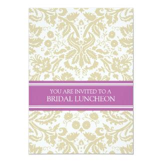 Invitación nupcial del almuerzo del damasco de la invitación 12,7 x 17,8 cm