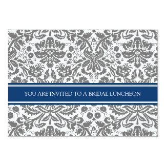 Invitación nupcial del almuerzo del damasco del invitación 12,7 x 17,8 cm