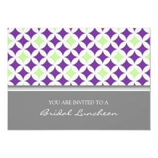 Invitación nupcial del almuerzo del modelo gris