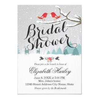 Invitación nupcial del boda del invierno de la